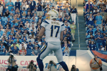 Philip Rivers in one of his last games in Las Angeles.