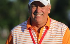 Among the many roles Mr. Toby Harbeck has filled over his 37 years at The Benjamin School is that of Head Coach of the Varsity Golf Teams. He is pictured here while attending a recent Honda Classic.
