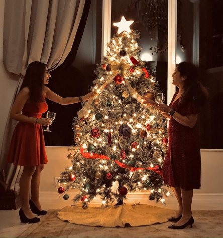 The Goel family decorates their Christmas tree during the Holidays. Despite the challenges of COVID-19, many families managed to capture the holiday spirit.