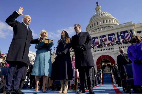 On Jan. 20, 2021, President Joe Biden was inaugurated in front of the Capitol. First Lady Jill Biden holds the family Bible as Chief Justice John Roberts swears in the 46th President of the United States.