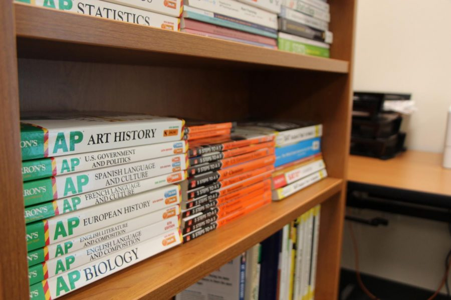 While a multitude of resources are available to students, AP exam books, such as Barrons, 5 Steps to a 5, and Princeton review, are a popular way to prepare with only a two months left before exam week.
