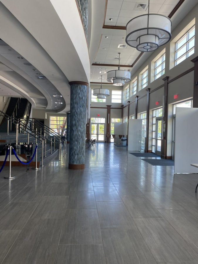 This years prom will be held in the Benjamin Hall Lobby and outside. due to COVID-19, prom had to be on campus in comparison to off campus in previous years.