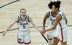 Freshman Paige Bueckers leads UConn into the final four of the NCAA March Madness tournament.