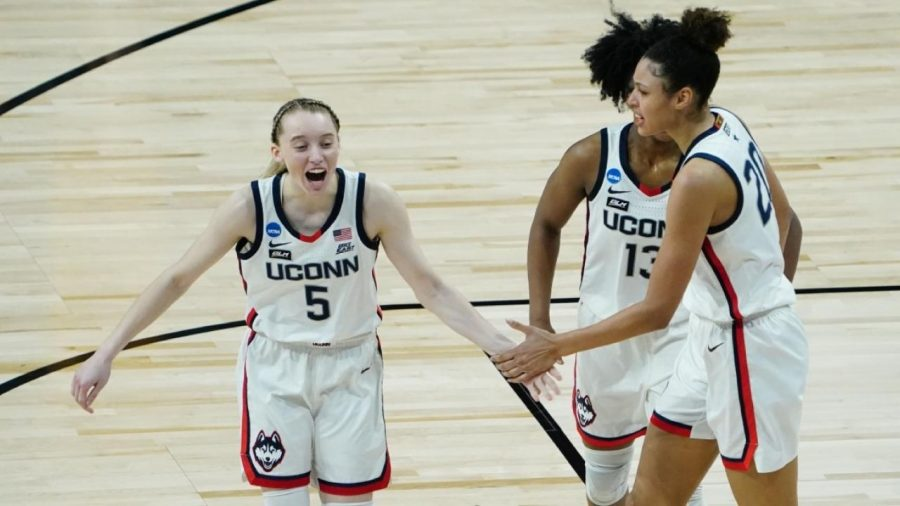 Freshman+Paige+Bueckers+leads+UConn+into+the+final+four+of+the+NCAA+March+Madness+tournament.