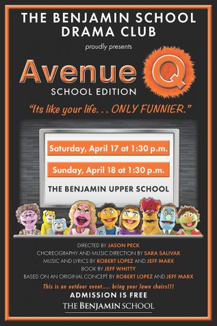 The Drama club present Avenue Q live in the Butterfly Garden.